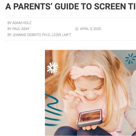 A Parents' Guide to Screen Time During Coronavirus
