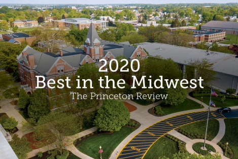 """Best in the Midwest"" The Princeton Review has named the University of Findlay as one of the best four-year institutions in the Midwest for 2020."